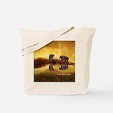 Elephant Custom Name Tote Bag