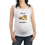 Pizza Junkie Maternity Tank Top