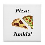 Pizza Junkie Tile Coaster