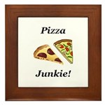 Pizza Junkie Framed Tile