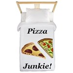 Pizza Junkie Twin Duvet