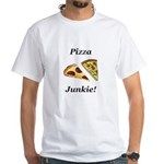 Pizza Junkie White T-Shirt