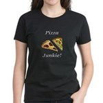 Pizza Junkie Women's Dark T-Shirt