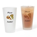 Pizza Junkie Drinking Glass