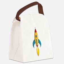 Rocket Ship Canvas Lunch Bag