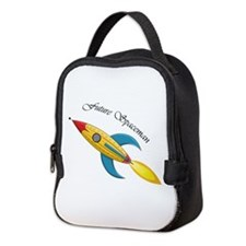 Future Spaceman Rocket Ship Neoprene Lunch Bag