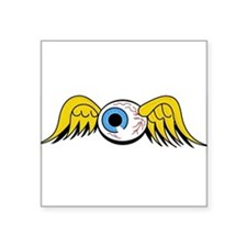 Flying Eyeball Oval Sticker