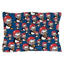 Rugby Penguin Pillow Case