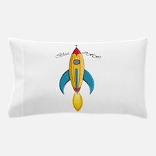 Blast Off! Rocket Ship Pillow Case