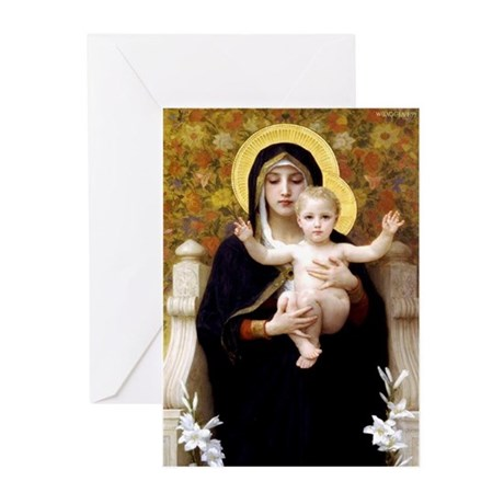Madonna of the Lilies Cards (Pk of 10) Greeting Ca