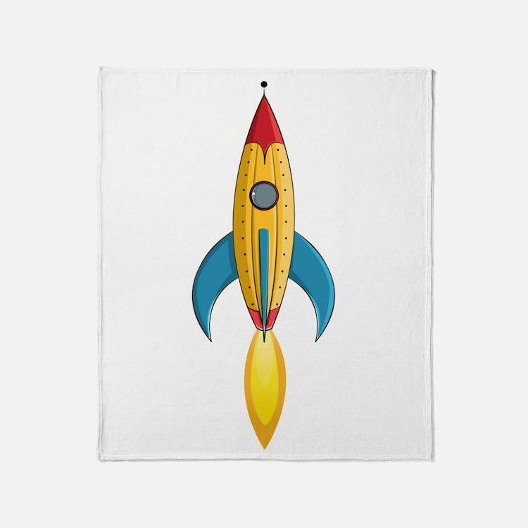 Rocket Ship Throw Blanket
