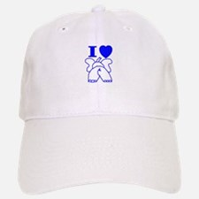I Love ( Heart ) Elephants Baseball Baseball Cap