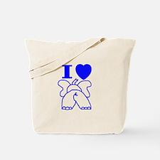 I Love ( Heart ) Elephants  Tote Bag