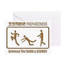 Zombie Preparedness Slow Bronze 3D Greeting Cards
