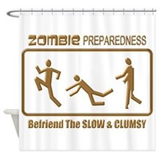 Zombie Preparedness Slow Bronze 3D Shower Curtain