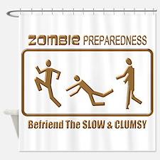 Zombie Preparedness Slow Bronze 3D Shower Curtain