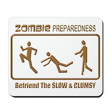 Zombie Preparedness Slow Bronze 3D Mousepad