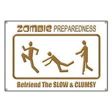 Zombie Preparedness Slow Bronze 3D Banner