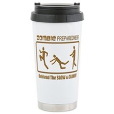 Zombie Preparedness Slow Bronze 3D Travel Mug