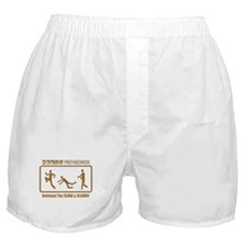 Zombie Preparedness Slow Bronze 3D Boxer Shorts