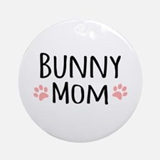 Bunny Mom Ornament (Round)