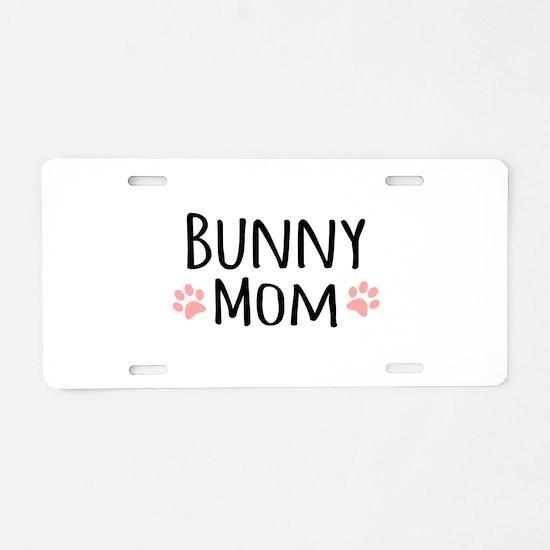Bunny Mom Aluminum License Plate