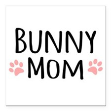 "Bunny Mom Square Car Magnet 3"" x 3"""