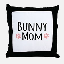 Bunny Mom Throw Pillow