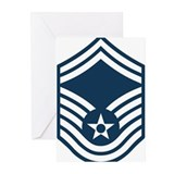 Smsgt air force rank insignia Greeting Cards (10 Pack)