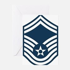 USAF-SMSgt-Black-Shirt Greeting Cards