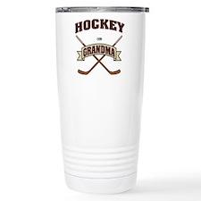 Hockey Grandma Stainless Steel Travel Mug