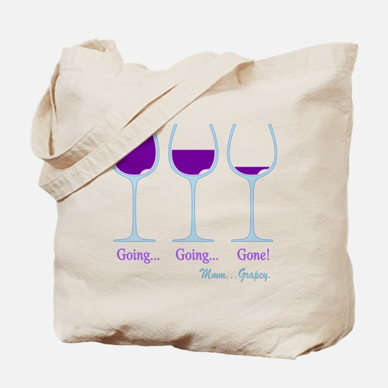 Wine Going Gone Grapey 2D Tote Bag