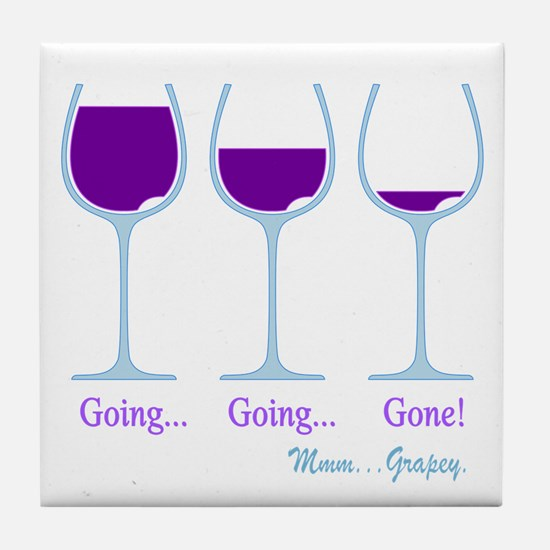 Wine Going Gone Grapey 2D Tile Coaster