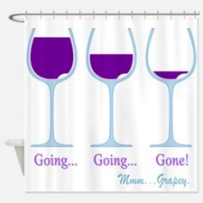 Wine Going Gone Grapey 2D Shower Curtain