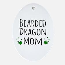 Bearded Dragon Mom Ornament (Oval)