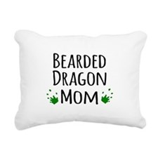 Bearded Dragon Mom Rectangular Canvas Pillow