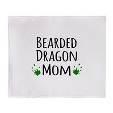 Bearded Dragon Mom Throw Blanket