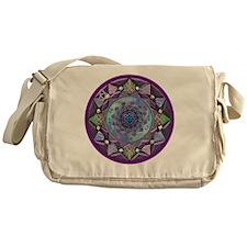 Celtic Fractal Mandala Messenger Bag