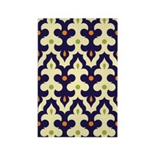 preppy damask arabesque moroccan  Rectangle Magnet