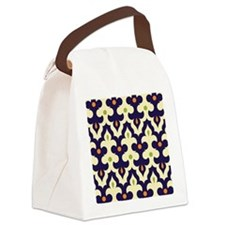 preppy damask arabesque moroccan  Canvas Lunch Bag