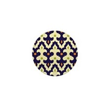 preppy damask arabesque moroccan paisl Mini Button