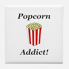 Popcorn Addict Tile Coaster