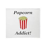 Popcorn Addict Throw Blanket