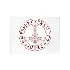 Mjölnir Rune Shield 5'x7'Area Rug