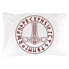 Mjölnir Rune Shield Pillow Case