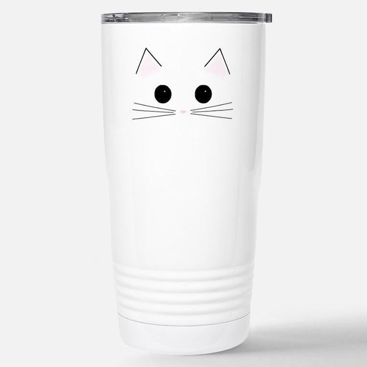 Cute Cat face Travel Mug