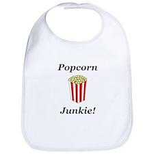 Popcorn Junkie Bib
