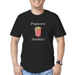 Popcorn Junkie Men's Fitted T-Shirt (dark)