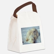 Polar Bear Canvas Lunch Bag