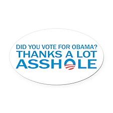Cute No obama Oval Car Magnet